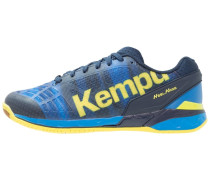 ATTACK ONE - Handballschuh - deep blue/lime yellow