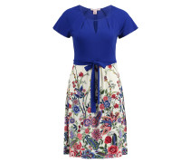 Freizeitkleid - royal blue/offwhite