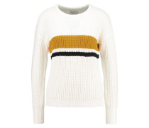 Strickpullover white/mustard/black