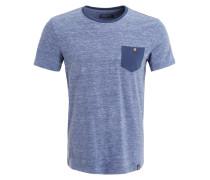 TShirt print mottled dark blue