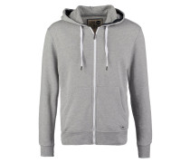 DEACON Sweatjacke mottled light grey