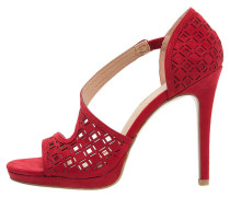 High Heel Sandaletten bordeaux