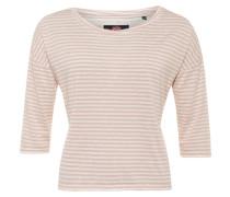 BOXY Langarmshirt blush ecru