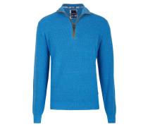 Strickpullover - königsblau melange