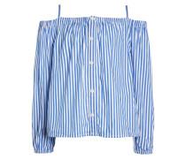 Bluse - blue/white