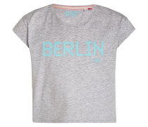BERLIN TShirt print light platin melange