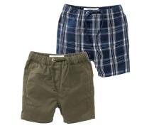 2 PACK Shorts olive/blue