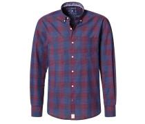 MODERN FIT Hemd rot/blau