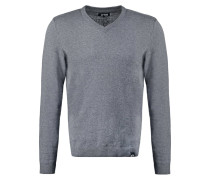 Strickpullover dark grey melange