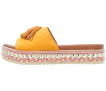 Pantolette flach - saffron