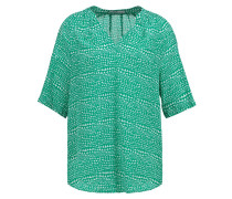 RITA Bluse green triangle