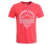 T-Shirt print - pink melange
