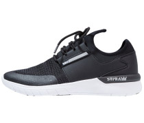 FLOW RUN - Sneaker low - black/white