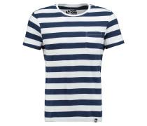 TShirt basic dark blue/white