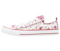 Sneaker low weiß/rot