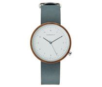 HEINRICH - Uhr - walnut/slate blue