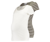 MLLEA 2 PACK - T-Shirt print - snow white