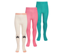 3 PACK Strumpfhose offwhite/pink/turquoise