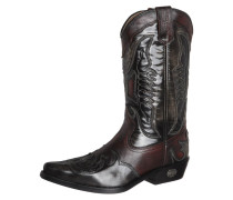 Cowboy/ Bikerboot antic schwarz/taupe/bordo