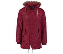 Winterjacke dark red