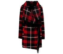 Wollmantel / klassischer Mantel red/black