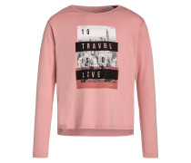 Langarmshirt faded rose