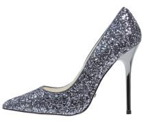 High Heel Pumps - glitter pewter