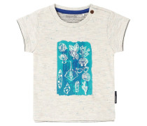 EDGEWOOD - T-Shirt print - off white melange