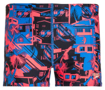 Badehosen Pants neon blue/psycho red