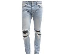 SKINNY JEANS LIGHT WASH RIPPED Jeans Slim Fit light blue