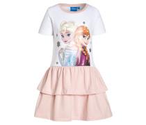 Jerseykleid weiß/rosa