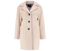 Wollmantel / klassischer Mantel creme brulee melange