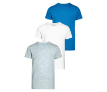 3 PACK TShirt basic grey/white/blue