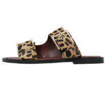 FRANCO Pantolette flach brown