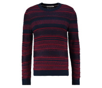 Strickpullover dark blue/bordeaux