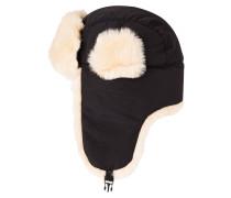 Mütze black/nature fur