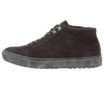 Sneaker high dark brown