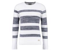 BANBURY - Strickpullover - medium blue/white