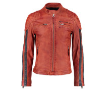 RIVAS ROCHO - Lederjacke - orange