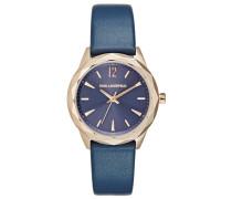 OPTIK Uhr blau