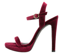 High Heel Sandaletten bordo