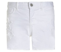 STAR MIDI - Jeans Shorts - white denim
