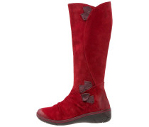 NORMA Keilstiefel red/wine