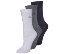 JACQUELINE 3 PACK - Socken - deep berry/lilac heather/charcoal