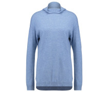 MILA Strickpullover snow/blue