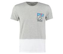 TShirt print mottled light grey/white