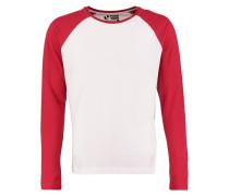 Langarmshirt white/red