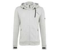 TEVERO Fleecejacke light grey melee