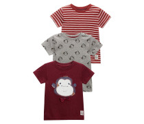 3 PACK TShirt print dark red