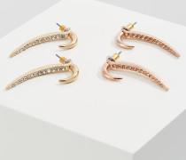 2 PACK - Ohrringe - gold-coloured/transparent